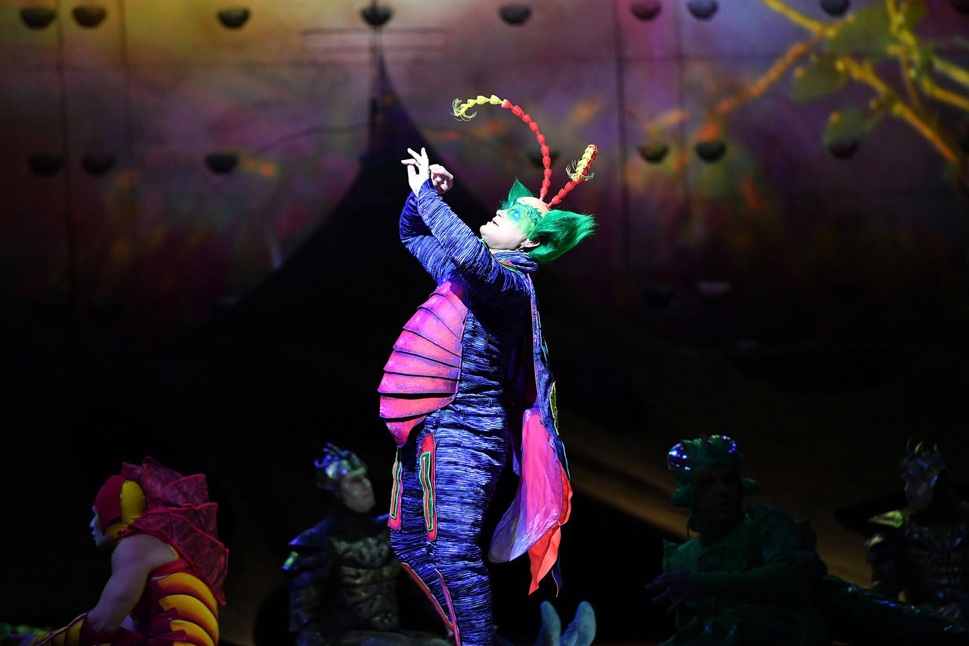 Master Flipo, uno de los protagonistas del show, haciendo gala de su carisma y humor entrador (Cirque du Soleil)