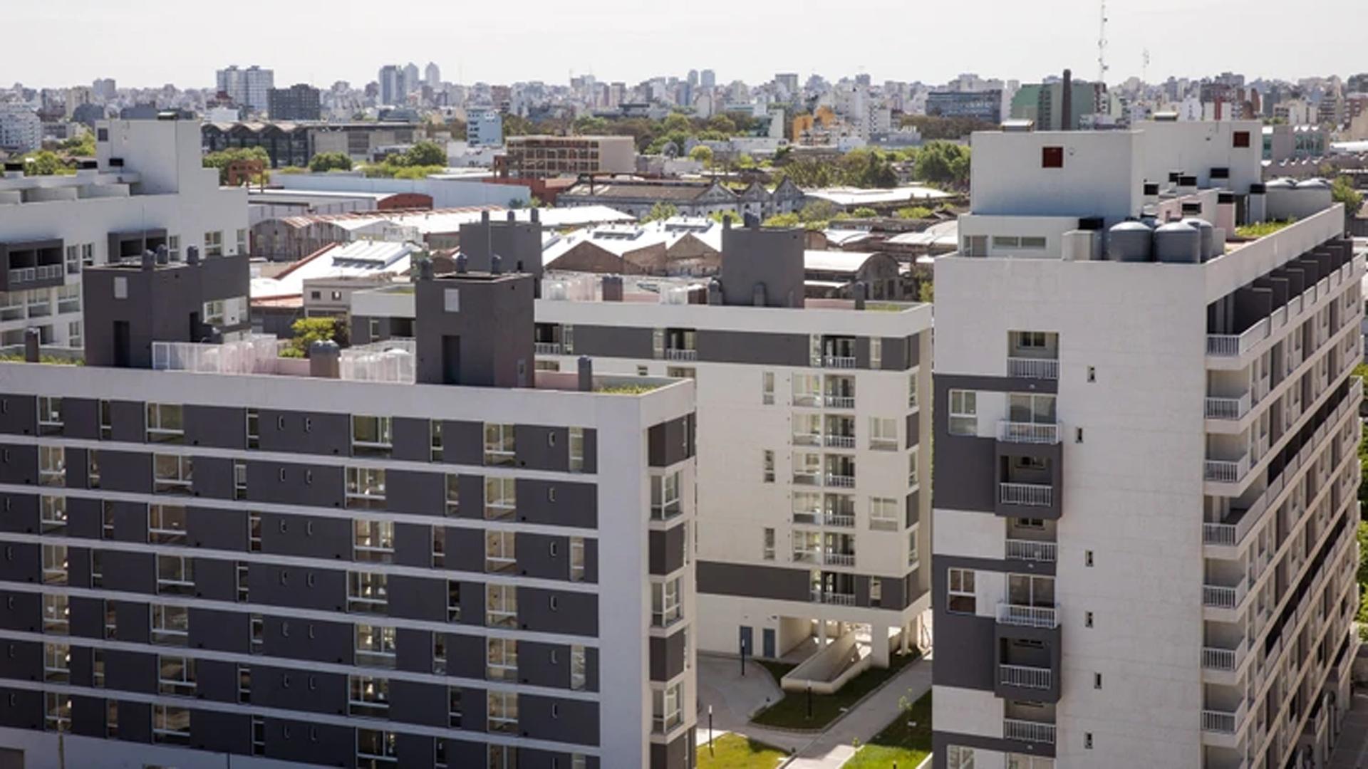 Viviendas del Plan Procrear en el barrio de Parque Patricios