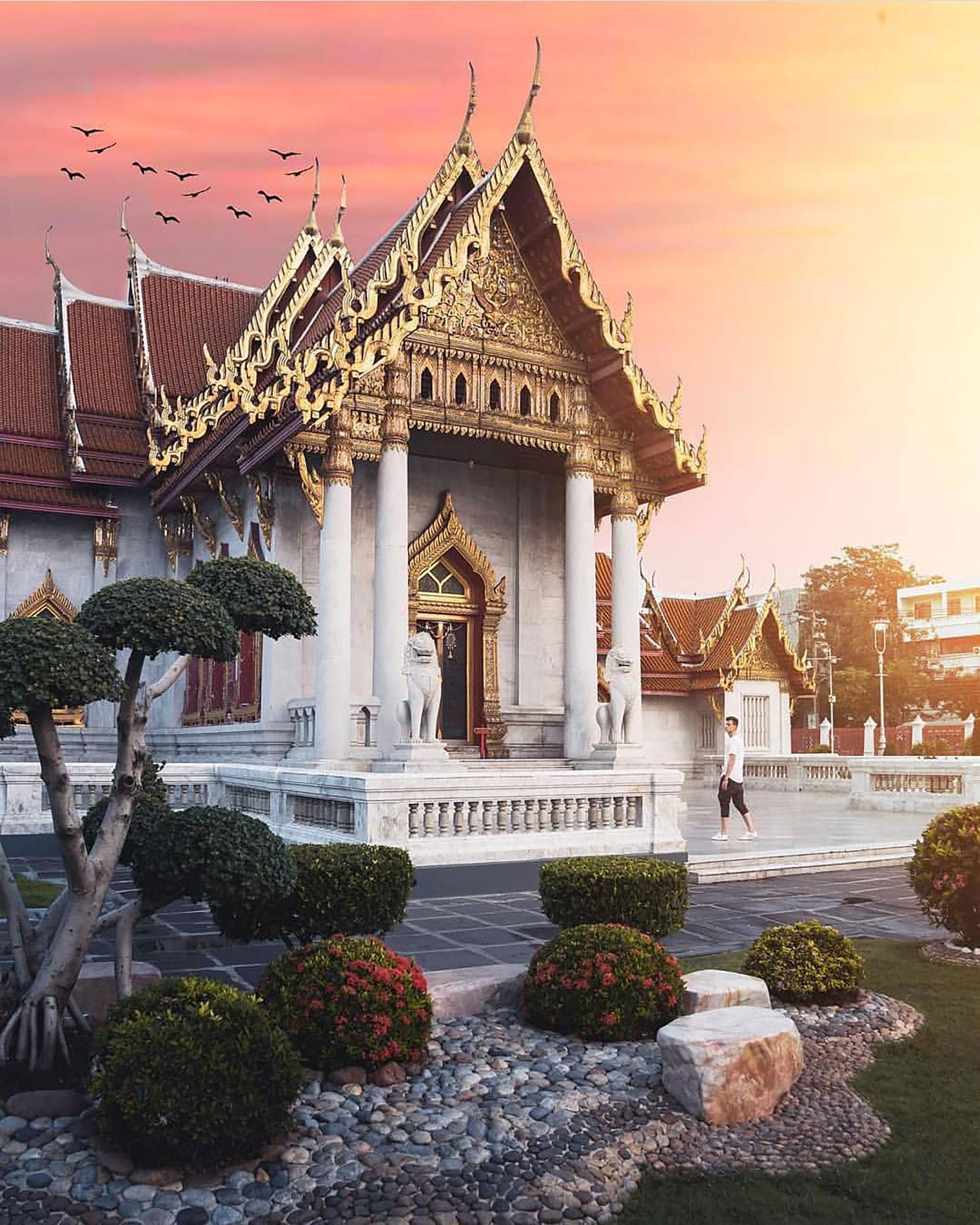La arquitectura histórica de Bangkok se encuentra entre las más impresionantes del mundo, cautivando a millones de visitantes cada año (@i.amtraveling)