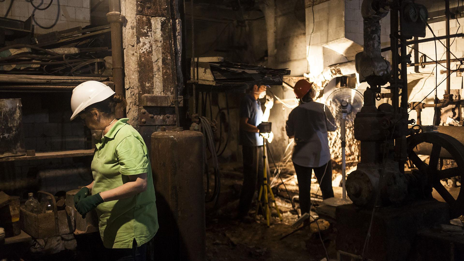 En el subsuelo del café se encontraba la cocina, donde siguen trabajando expertos en patrimoniio para restaurarla