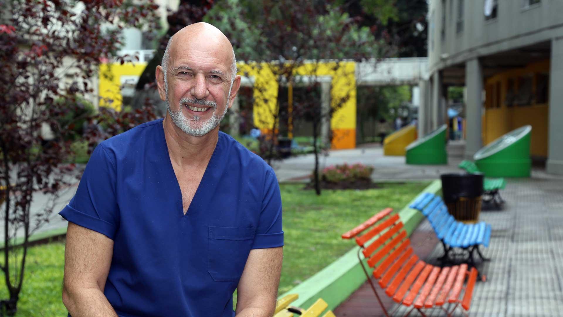 Dr. Rubén Omar Sosa, médico pediatra y Jefe de Infectología del Hospital Pedro de Elizalde. Foto: Fernando Calzada.