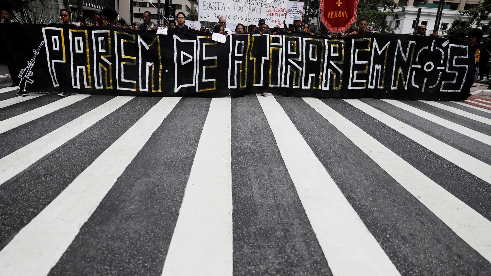 Manifestación contra la violencia policial en Río (Reuters)