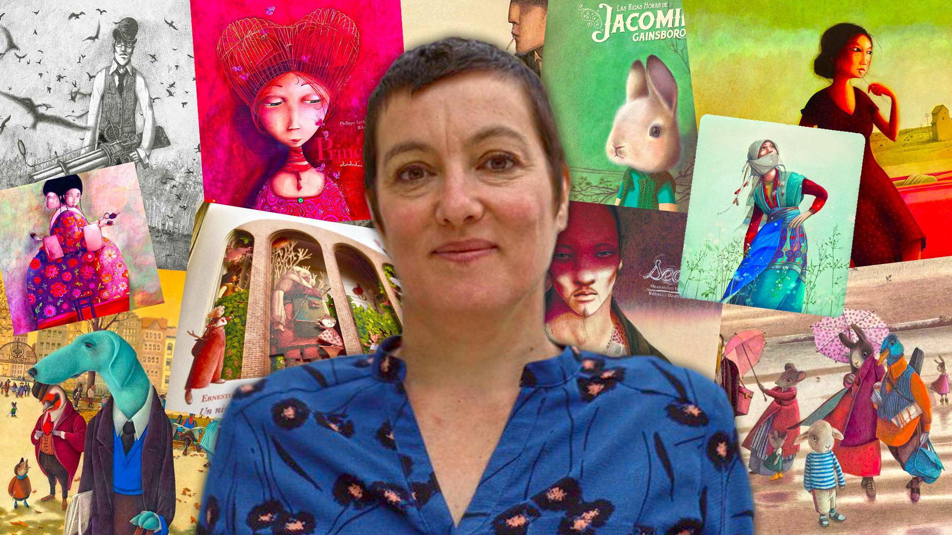 Rébecca Dautremer presentó sus últimos libros en la Feria del Libro de Buenos Aires (Matías Baglietto)