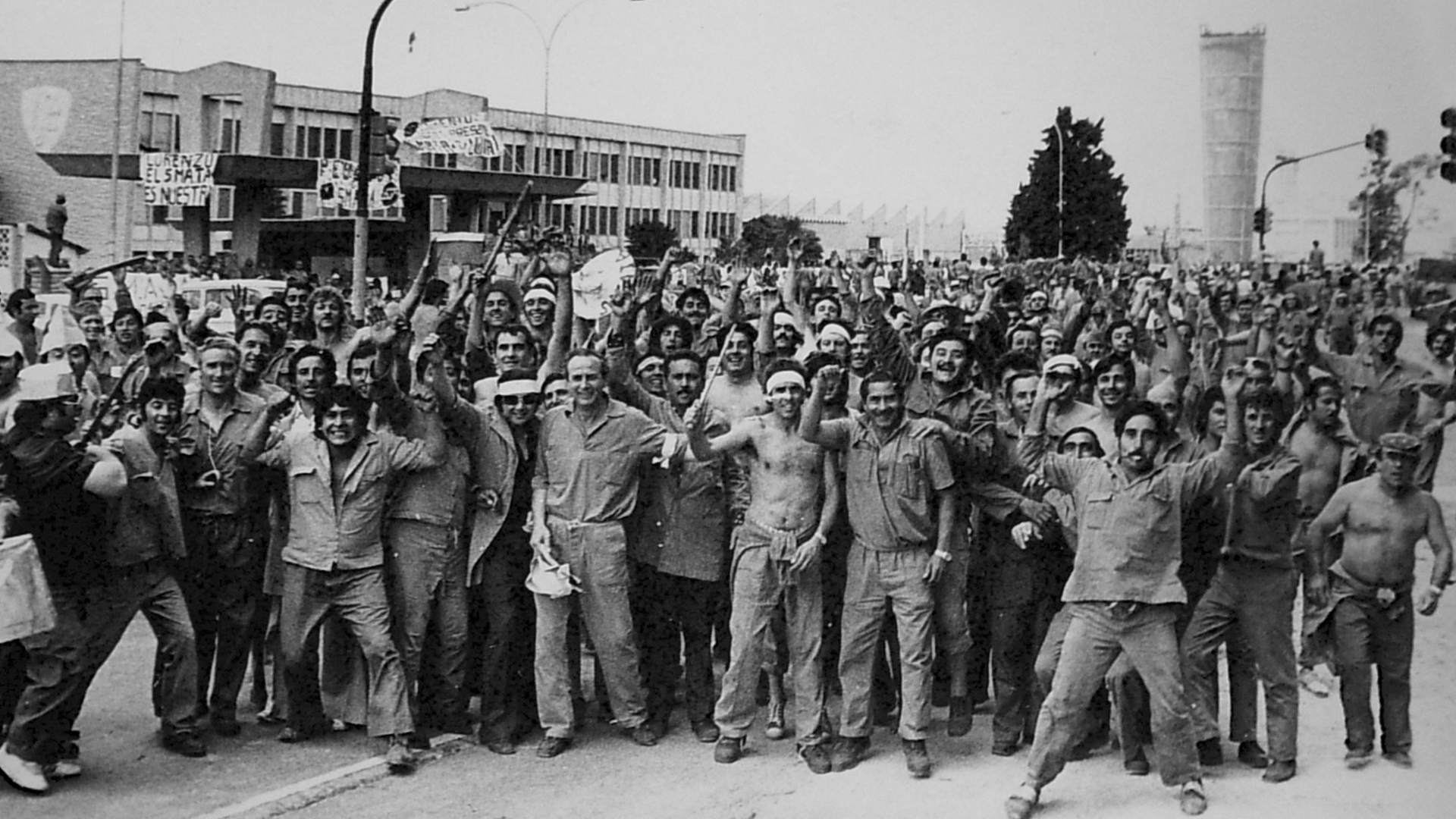 Protesta obrera durante el Cordobazo en mayo de 1969