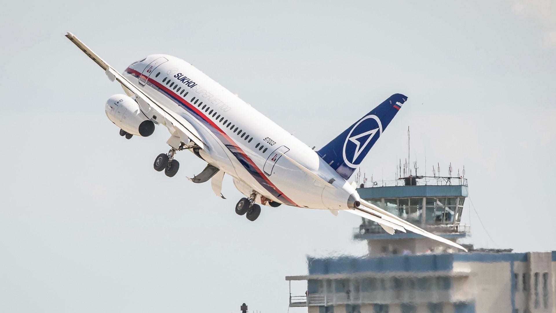 Se trata del primer avión comercial desarrollado en Rusia desde la caída de la Unión Soviética (AFP)