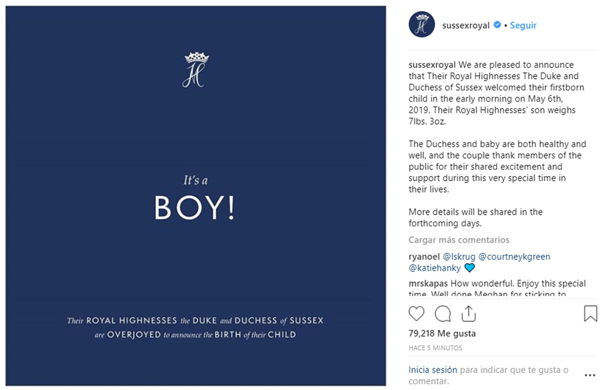 Principe Harry - Meghan Markle Nacimiento - hijo - bebe - real