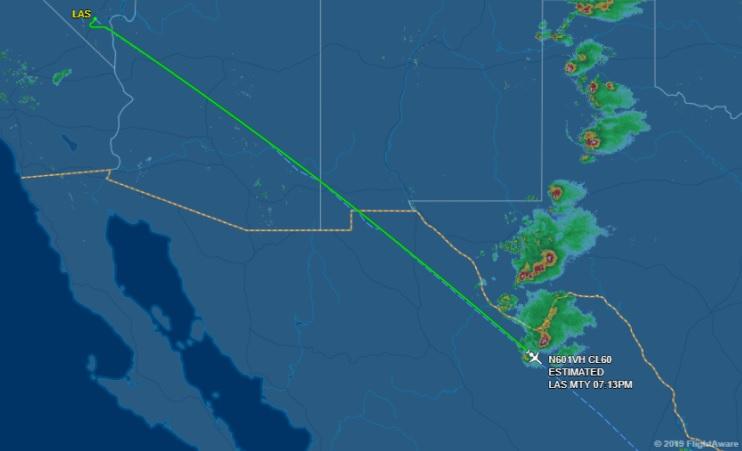 Según datos de FlightAware, la aeronave había aterrizado con normalidad en Monterrey; sin embargo, personas cercanas al caso han confirmado la desaparición (Foto: Especial)
