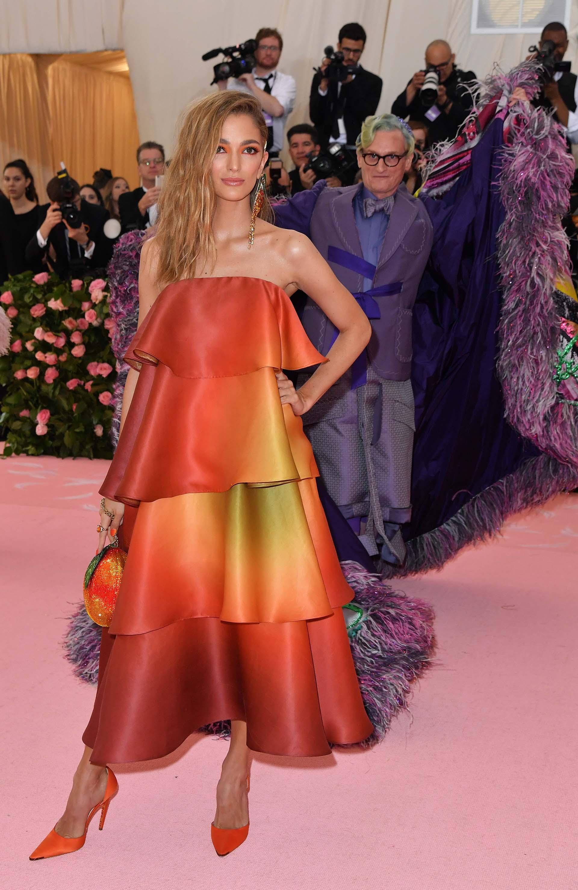 La empresaria Sofía Sánchez Barrenechea, junto con la actriz y modelo Camila Morrone fueron las únicas argentinas que dieron el presente en la alfombra rosa