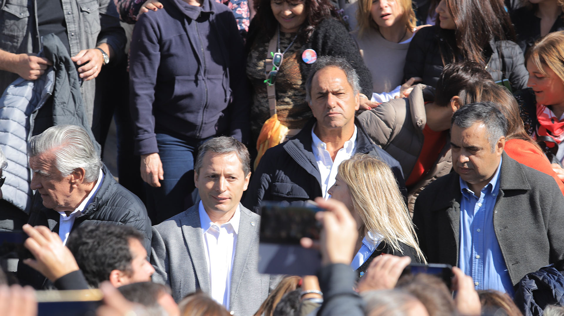El ex gobernador Daniel Scioli y el intendente de Esteban Echeverría, Fernando Grey