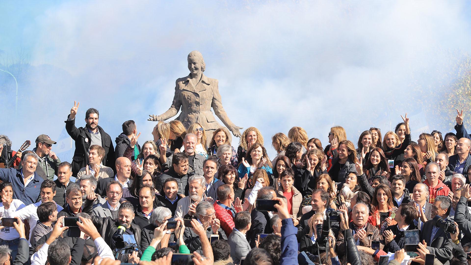 Distintas vertientes del peronismo se reunieron en Los Toldos para el homenaje a Evita