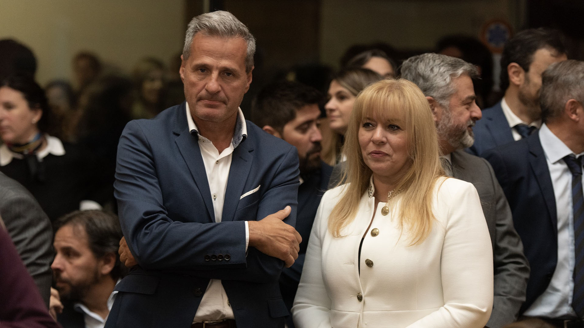 El fiscal federal Ramiro González y la jueza Karina Rosario Perilli.