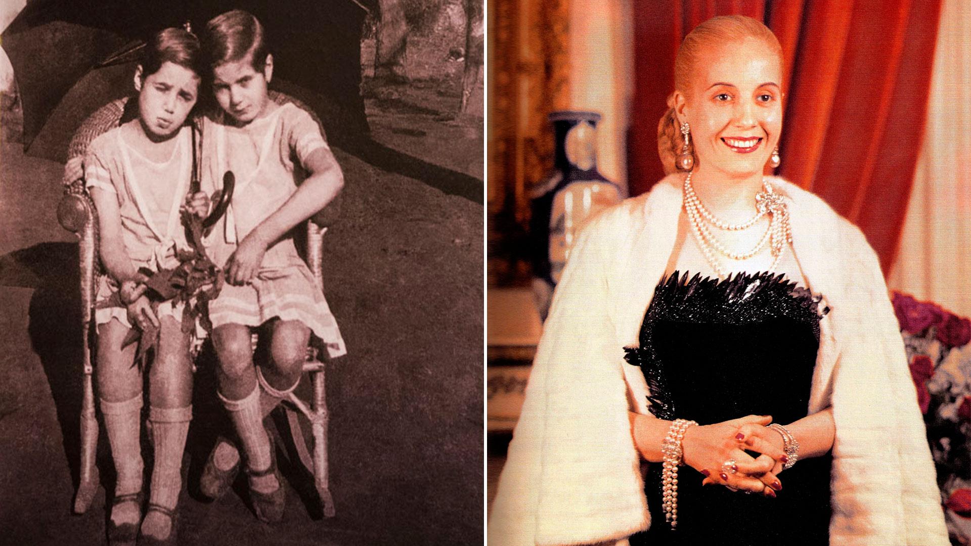 0e8c0f029 La evolución del estilo de Evita  de coser su propia ropa a vestir ...