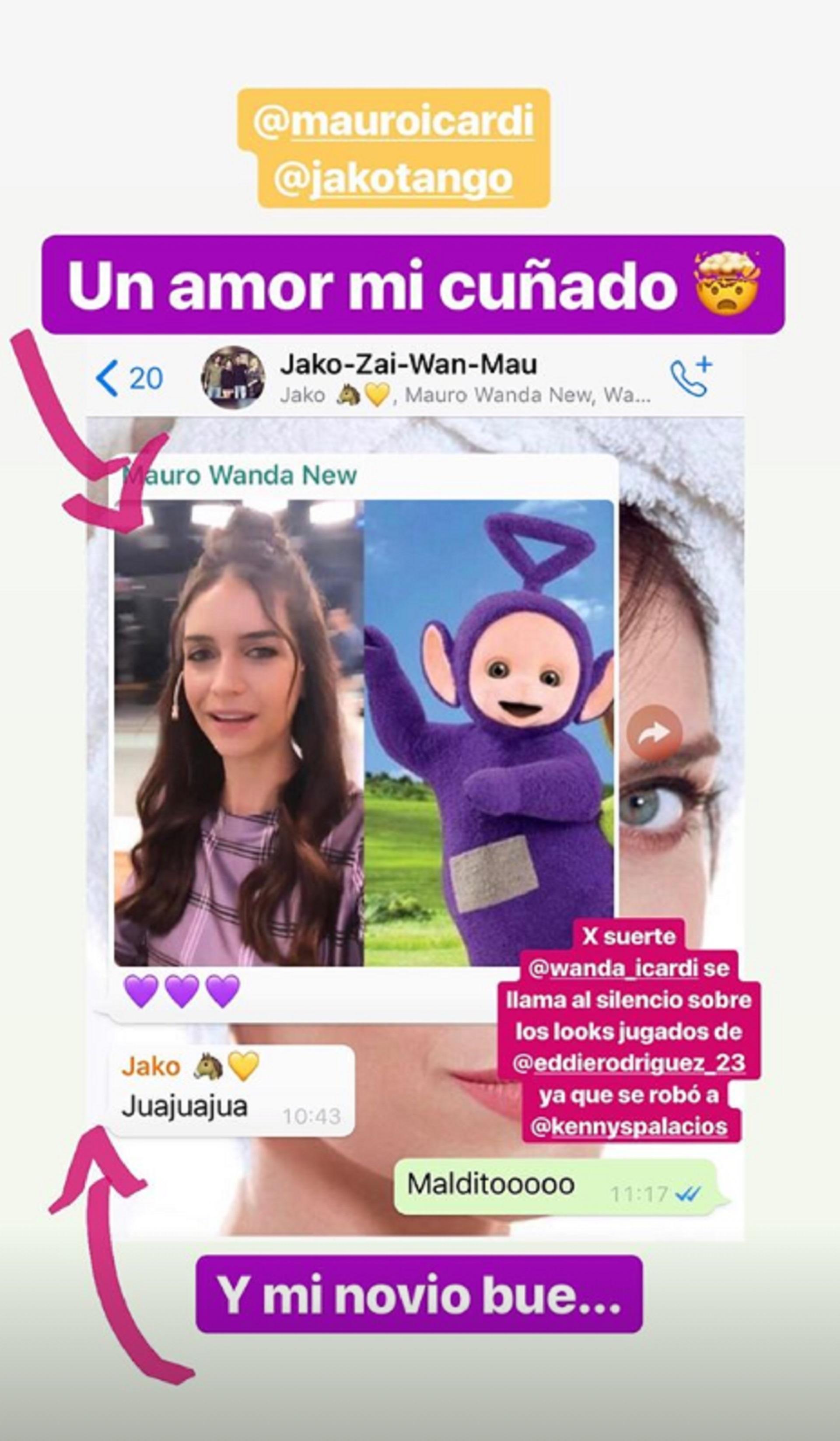 El mensaje de Zaira Nara que originó la reacción de Wanda