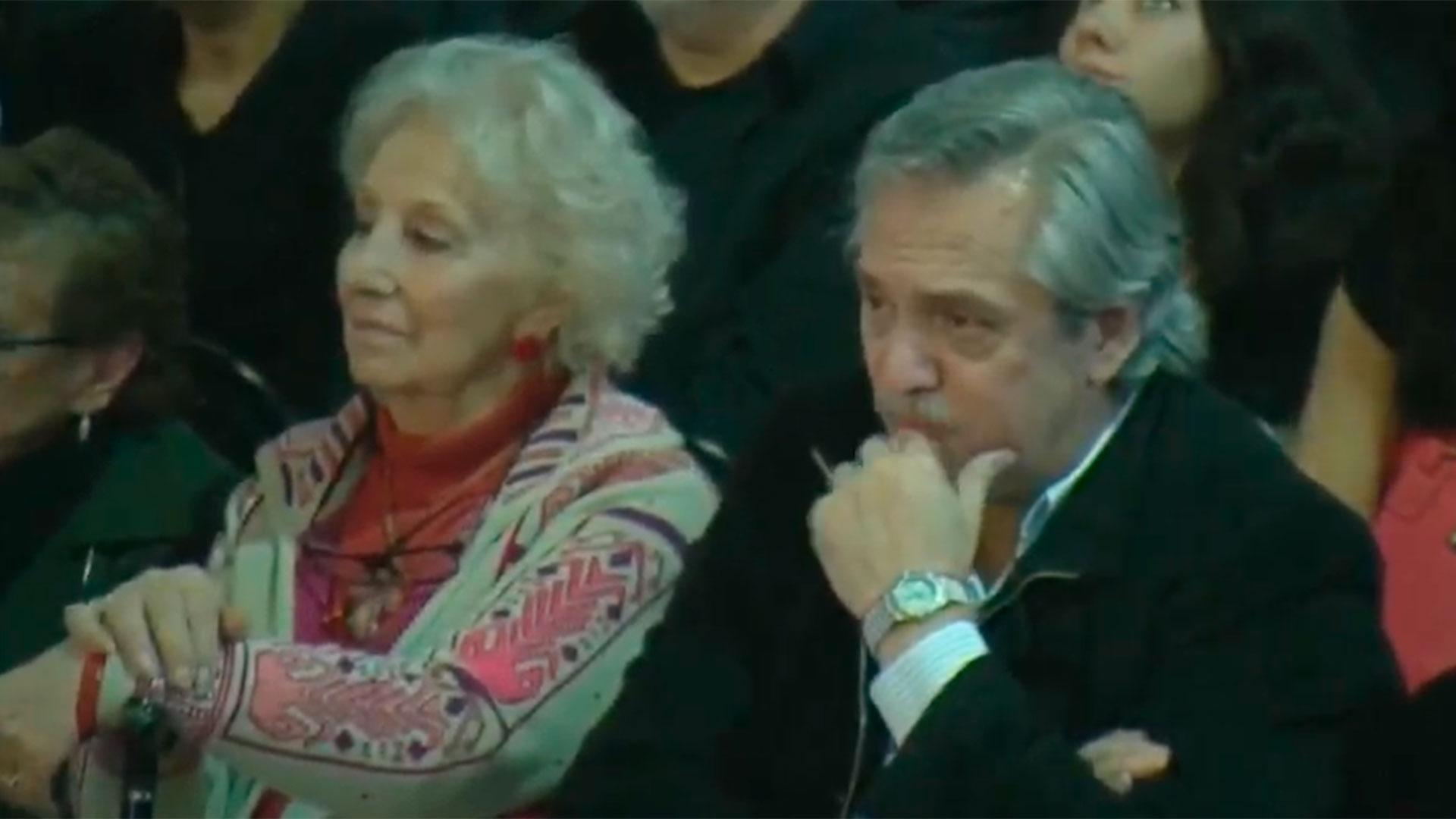 Estela Carlotto y el ex jefe de gabinete Alberto Fernández