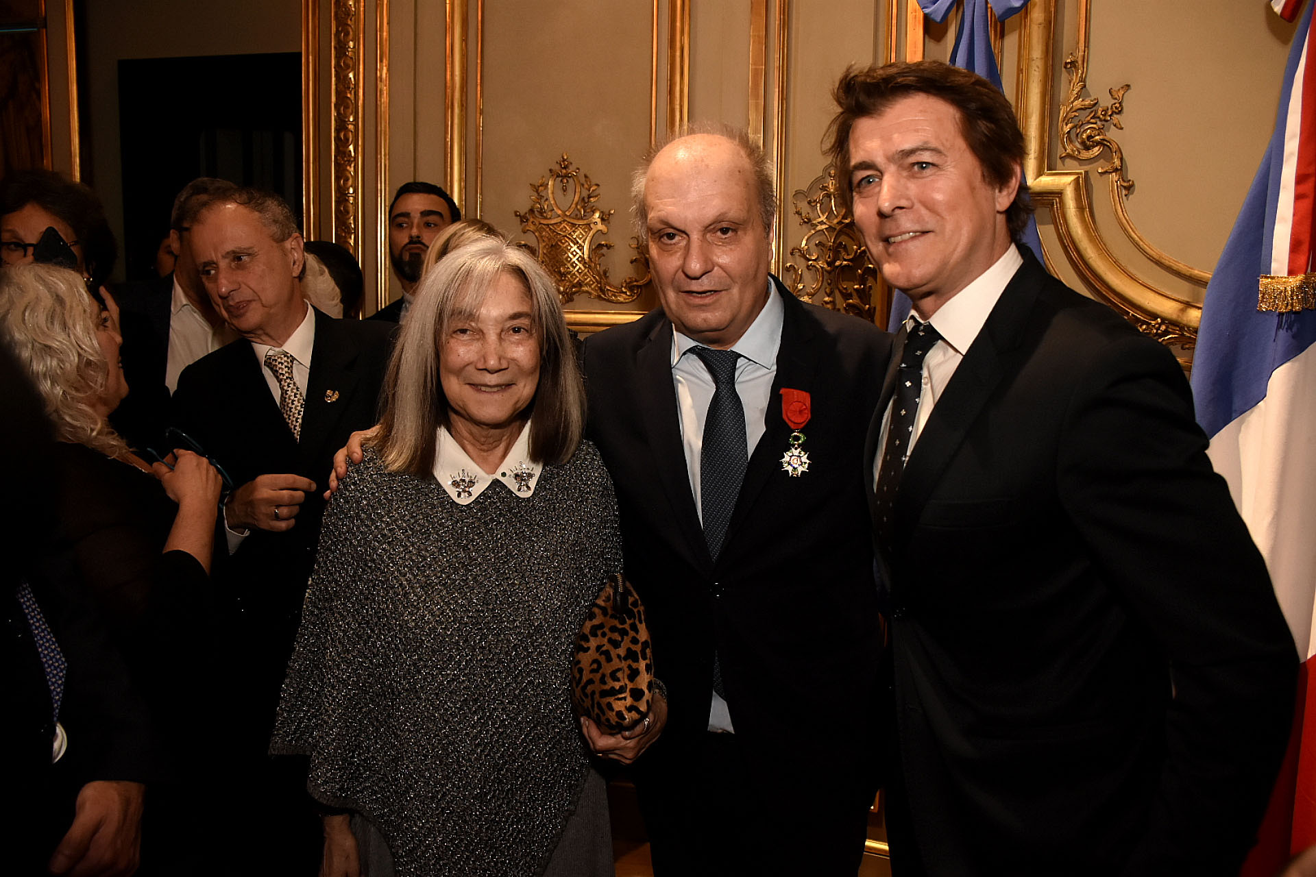 María Kodama, Hernán Lombardi y Gabriel Corrado