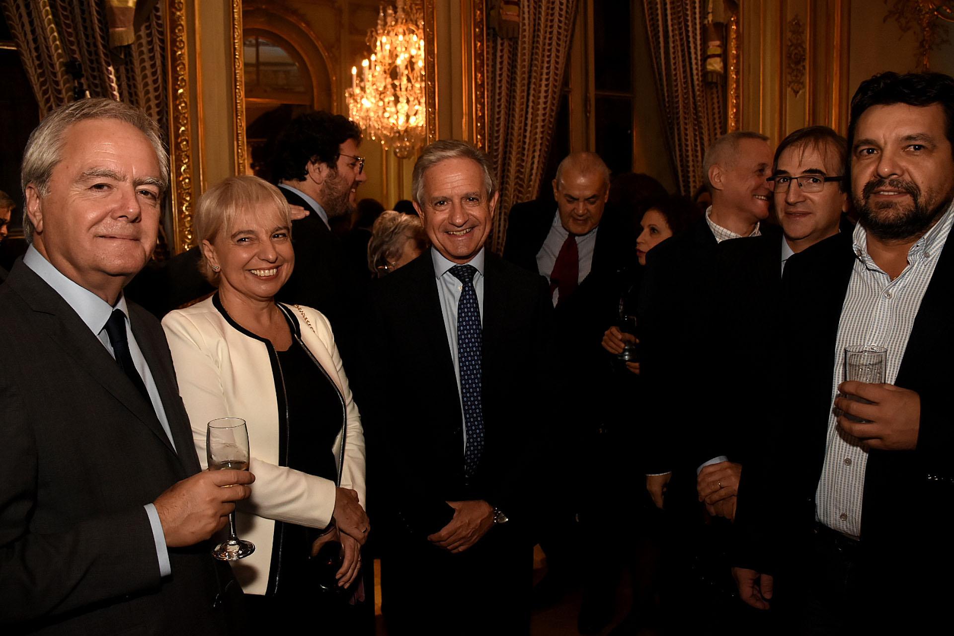 Federico Pinedo junto a la presidente de Enacom, Silvana Giudici, y al secretario de Modernización, Andrés Ibarra