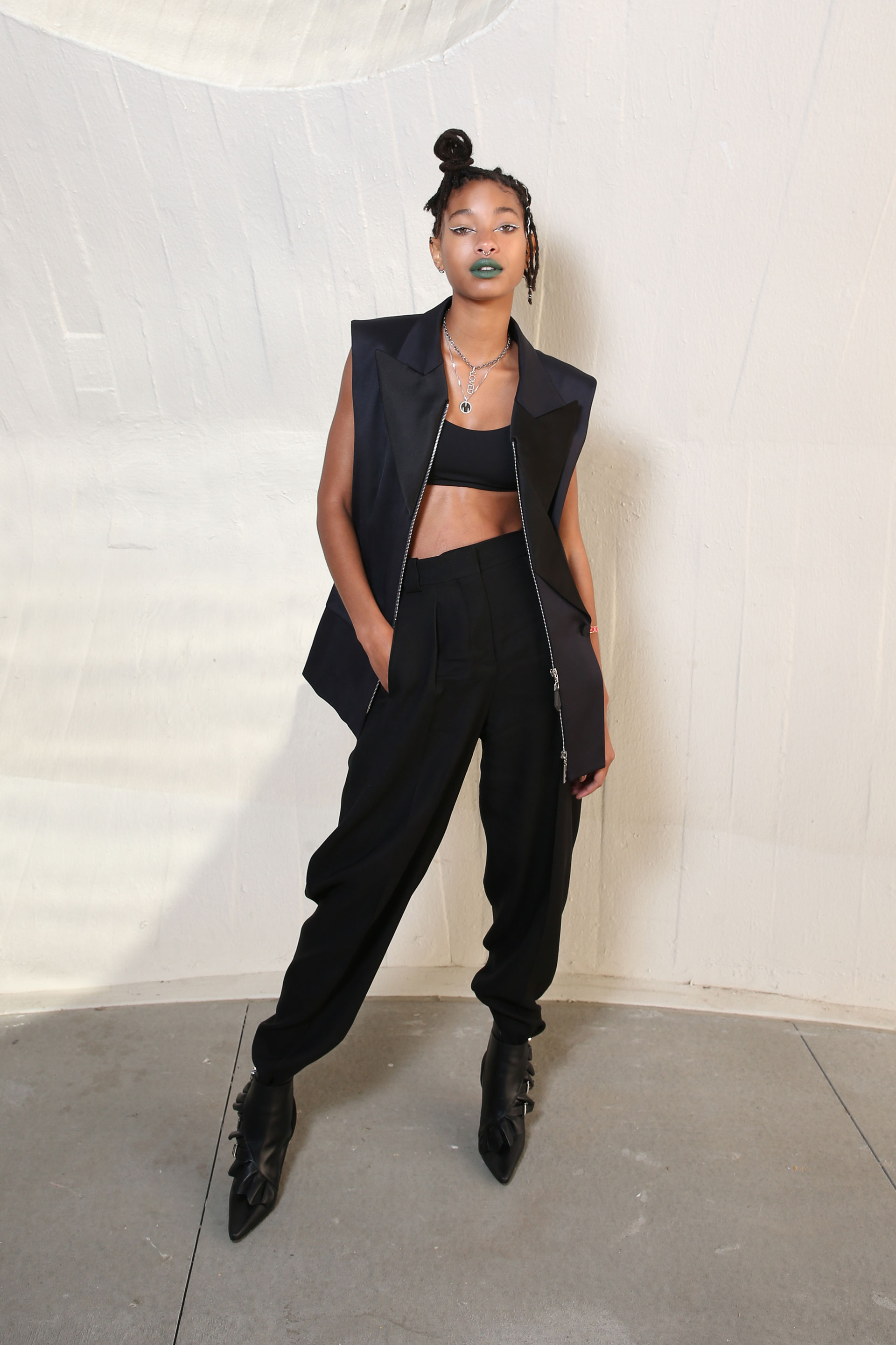 Willow Smith, girl in black.