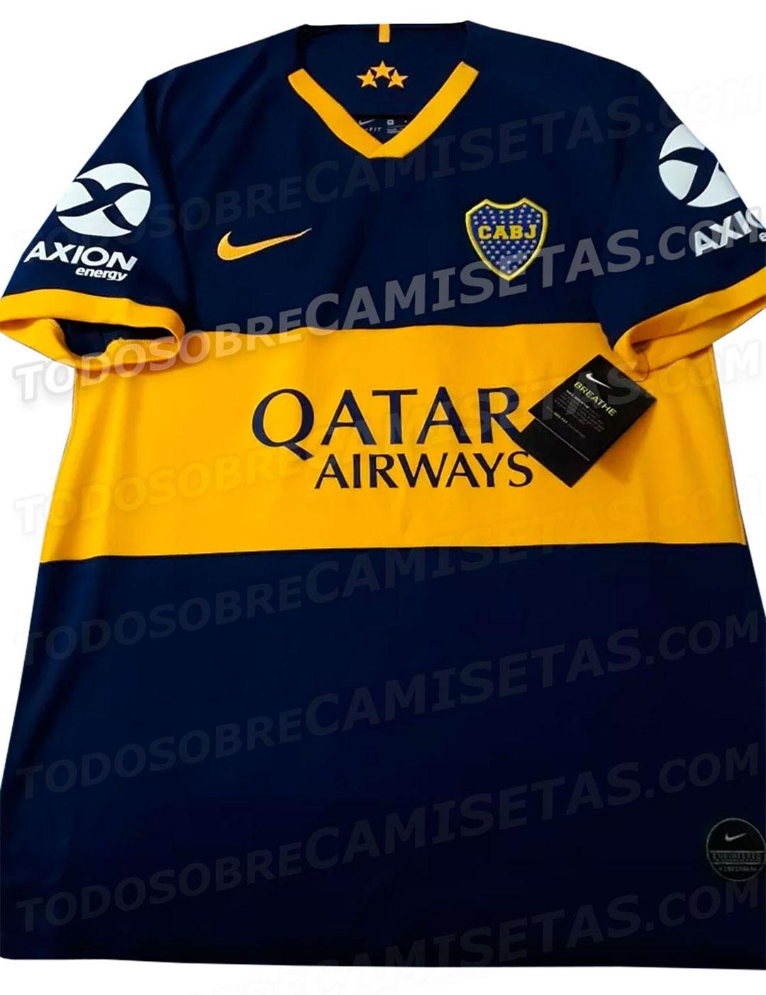 En la próxima temporada, Boca volvería a usar el azul oscuro y la franja amarilla ancha en su camiseta