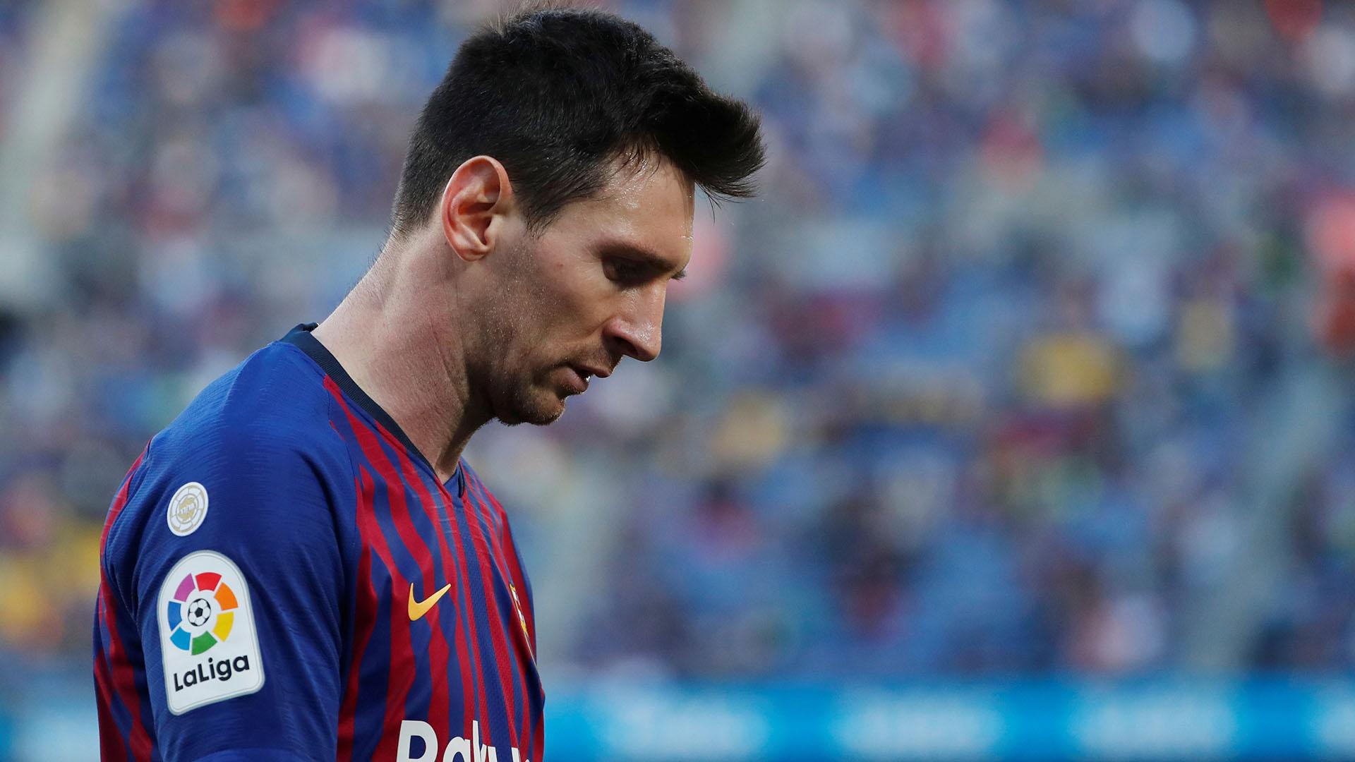 Lionel Messi, con cambio de look tras la eliminación en la Champions League ante el Liverpool (REUTERS)