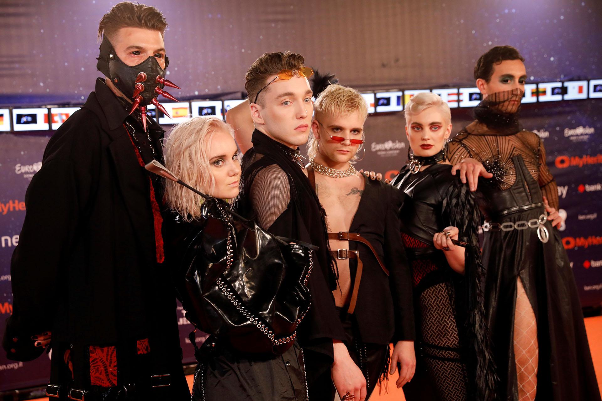 El grupo Hatari, de Islandia