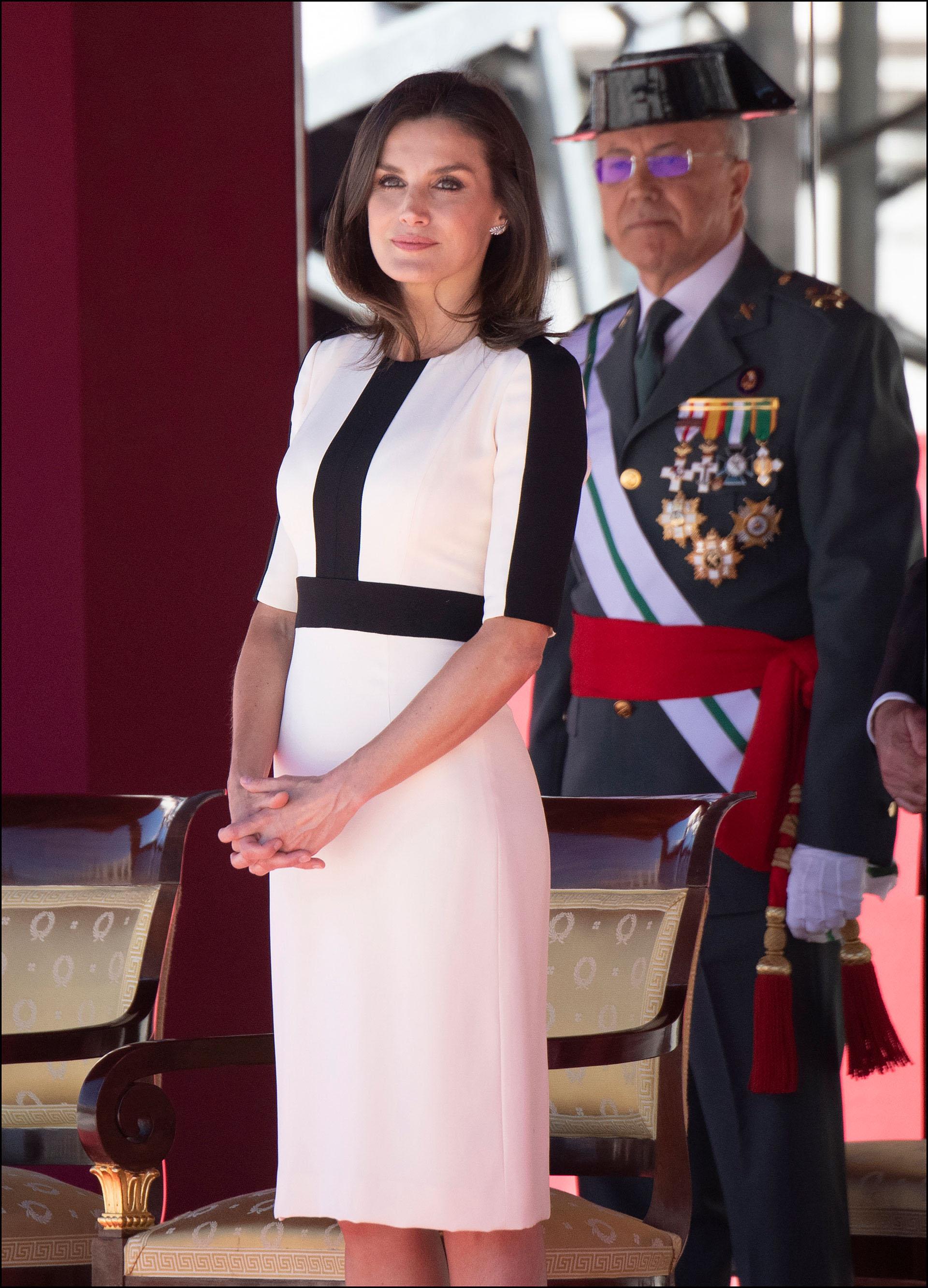 La Reina Letizia en el Palacio Real de Madrid.