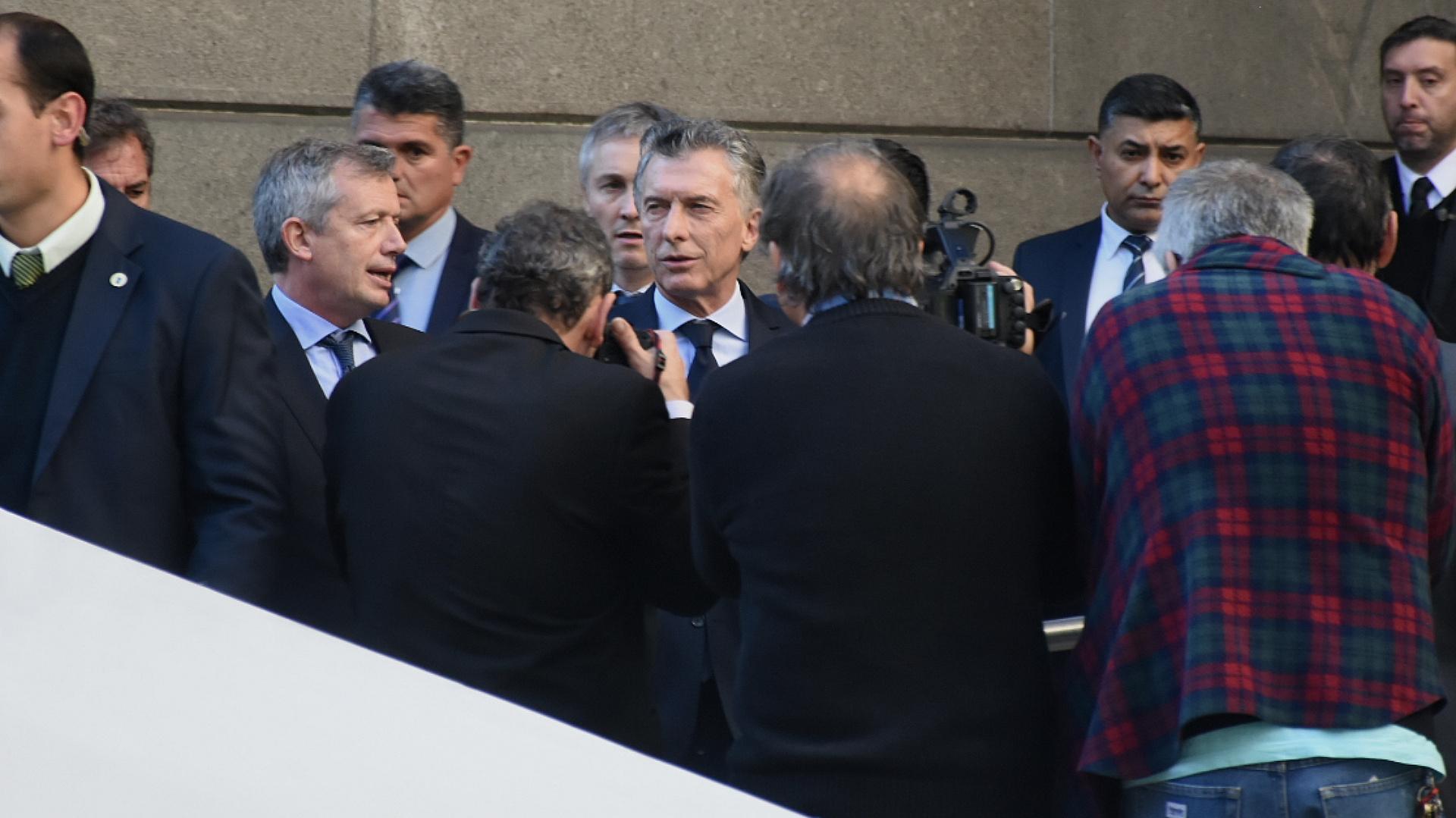 El presidente Mauricio Macri junto a Emilio Monzó
