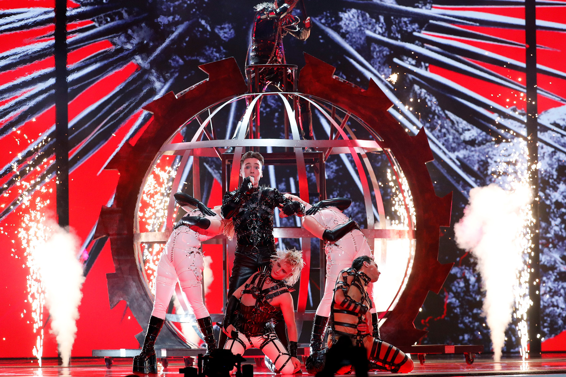 Hatari – Eurovision en Tel Aviv, Israel. REUTERS/Ronen Zvulun