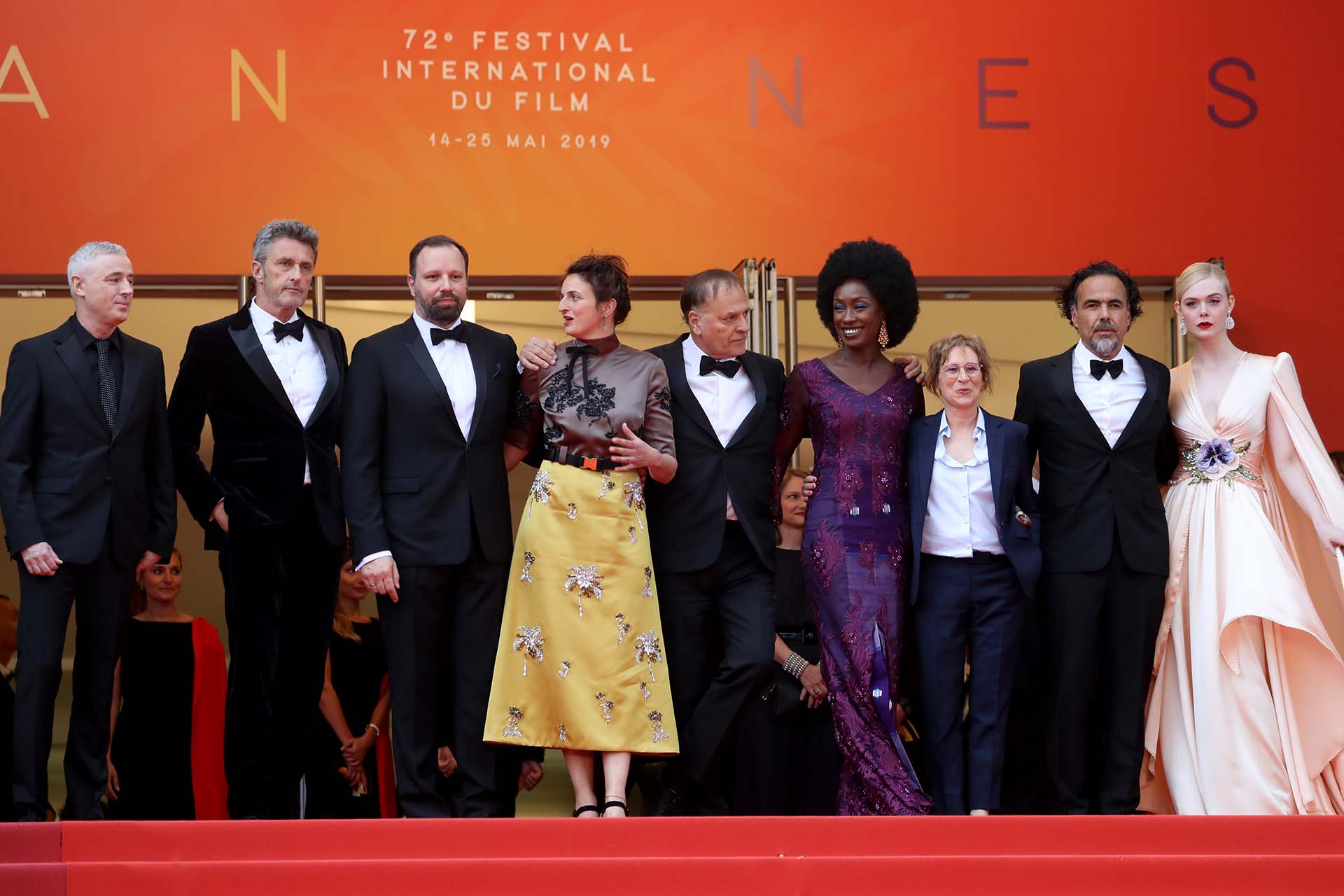 El juradode Cannes 2019: Alejandro González Iñárritu, Alice Rohrwacher, Kelly Reichardt, Yorgos Lanthimos, Robin Campillo, Pawel Pawlikowski, Elle Fanning, Maimouna N'Diaye, y Enki Bilal.