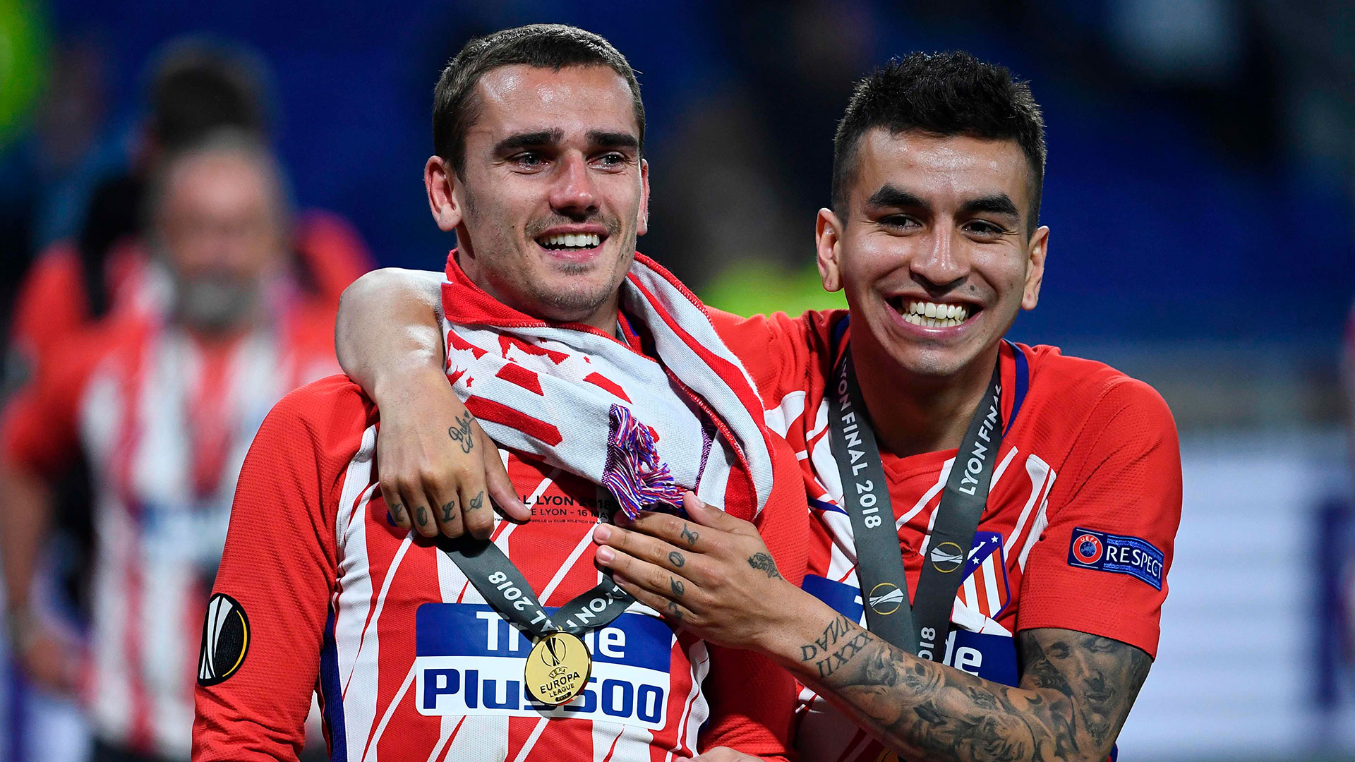Griezmann ganó tres títulos con el Atlético Madrid (AFP)