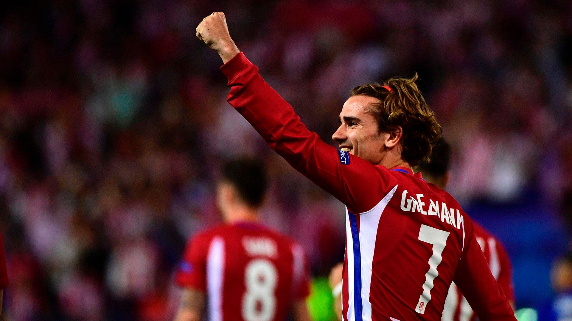 Griezmann jugará este fin de semana su último partido en el ATlético Madrid (AFP)