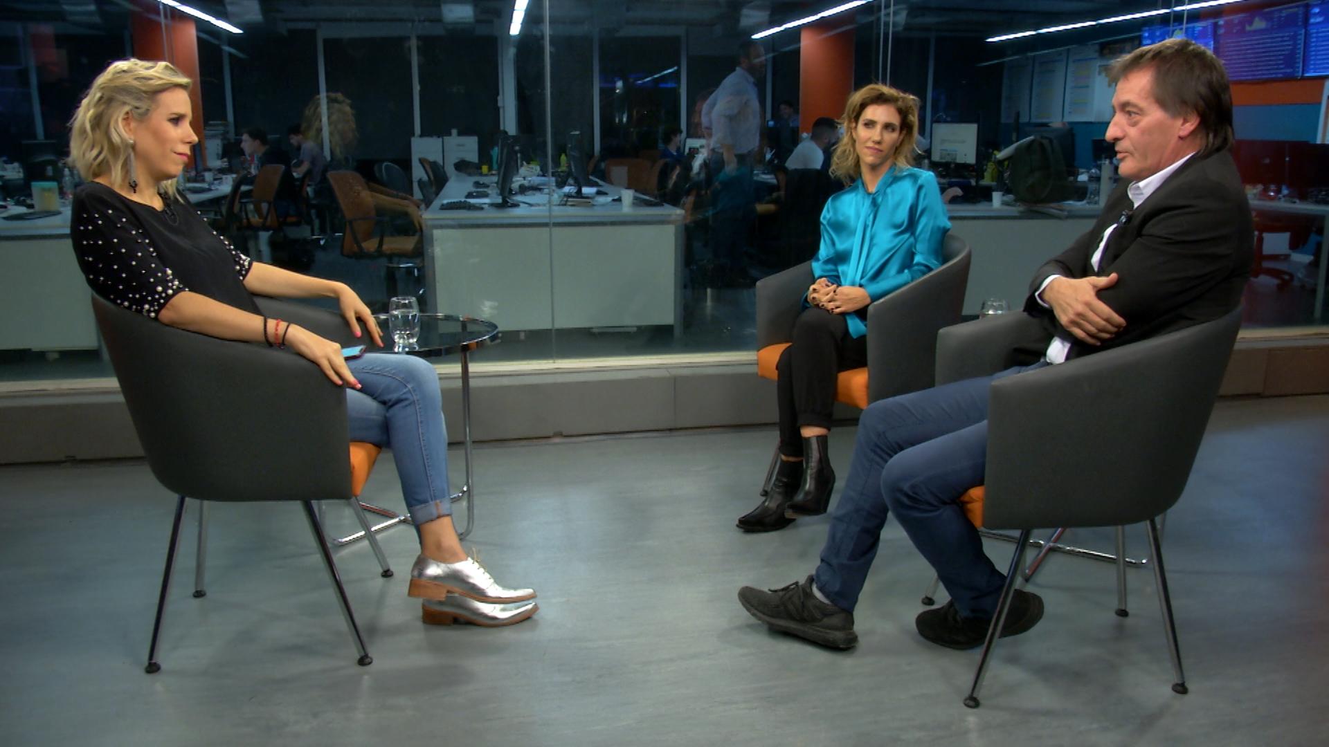 Julieta Novarro y Pablo Bossi a solas con Teleshow