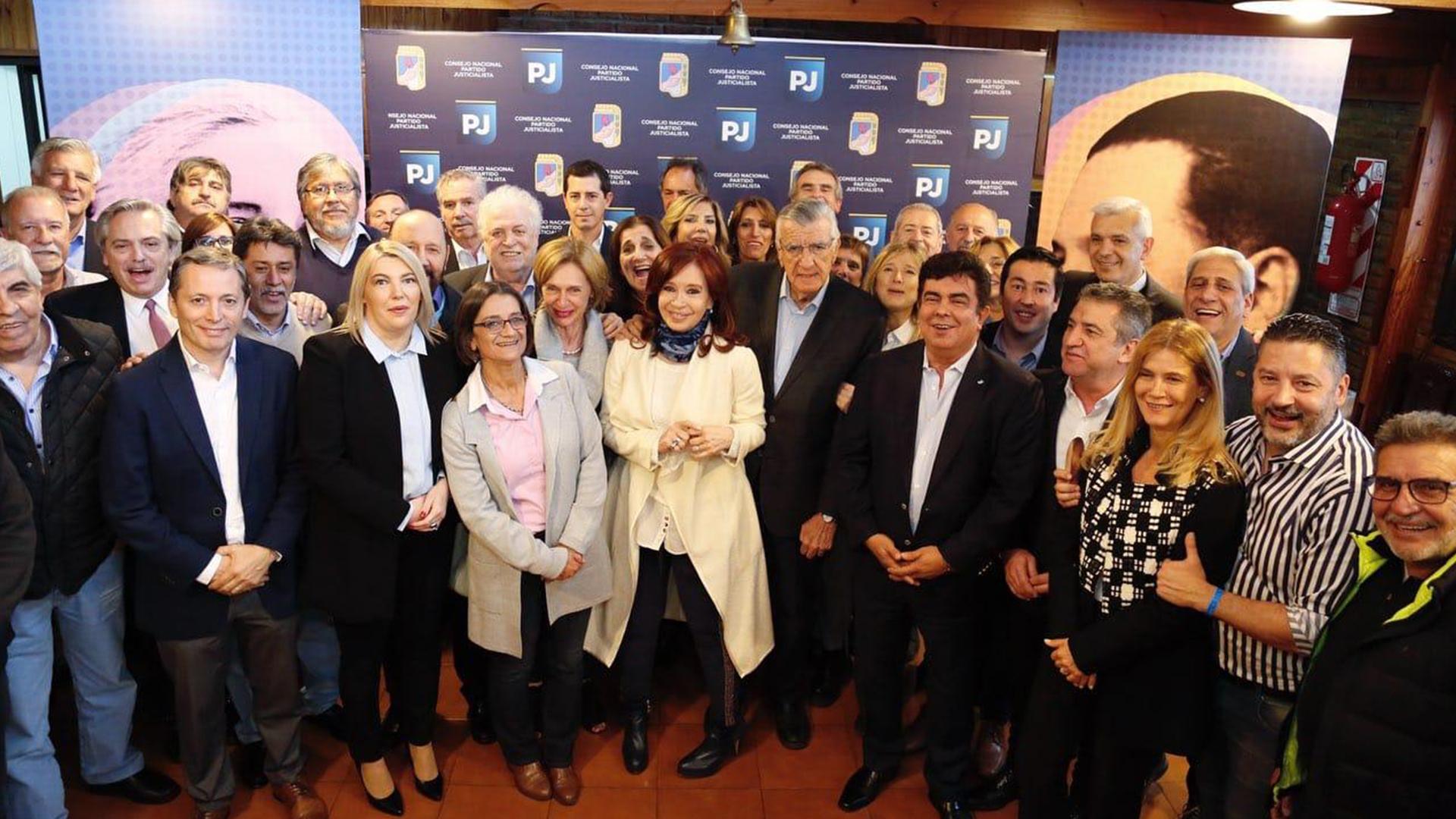 La ex presidente Cristina Kirchneren la cumbre del PJ de esta semana