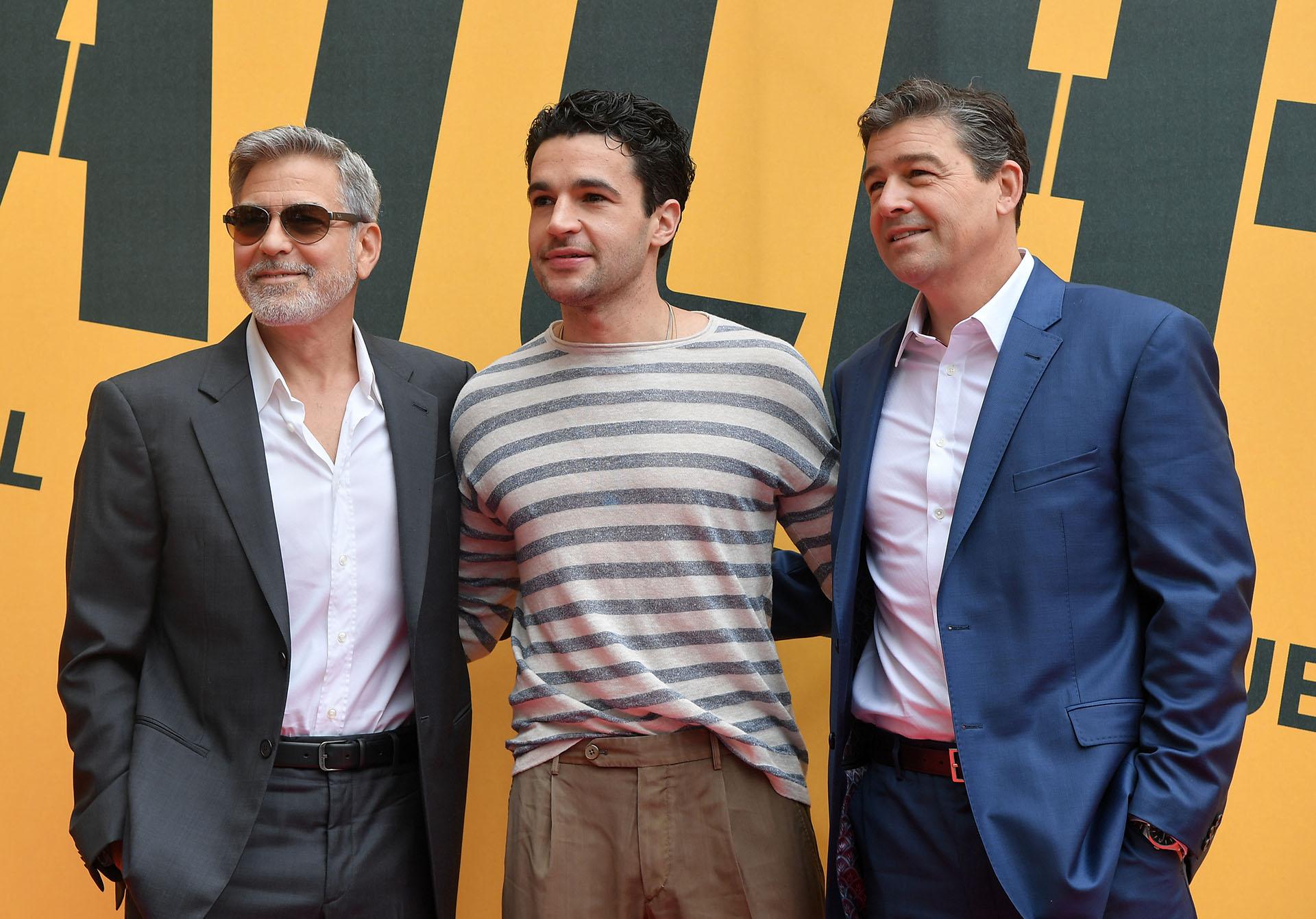 George Clooney junto a los actores Christopher Abbott y Kyle Chandler