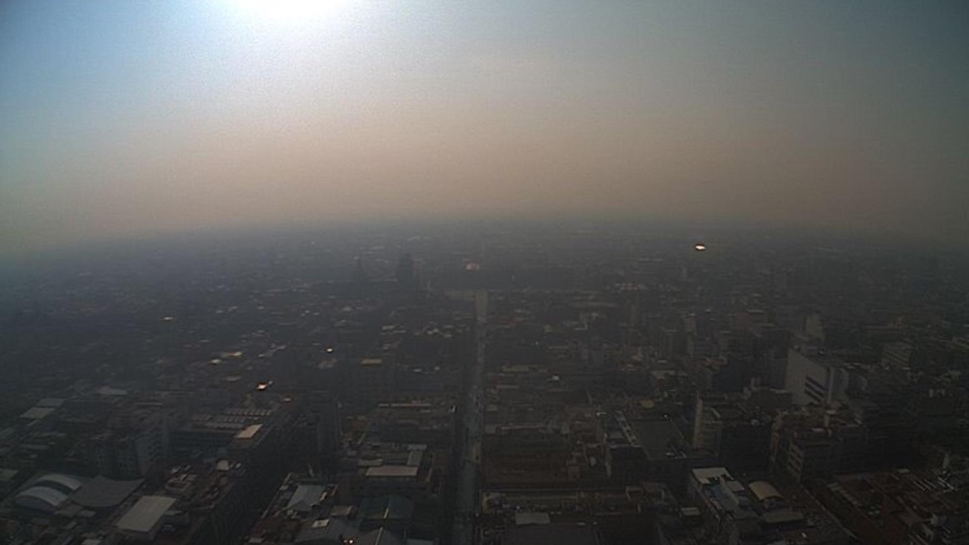 El contaminante más temido es la partícula PM 2.5 (Foto: Twitter – @SkyAlertStorm)