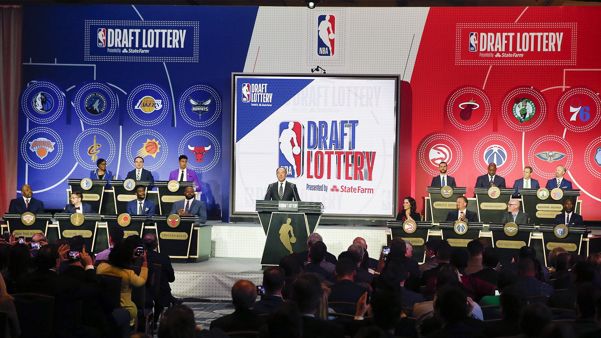 Se sortearon las posiciones para el Draft de la NBA 2019