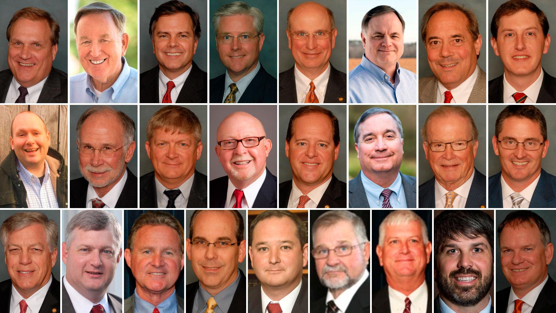 Los 25 senadores republicanos que aprobaron la medida en Alabama