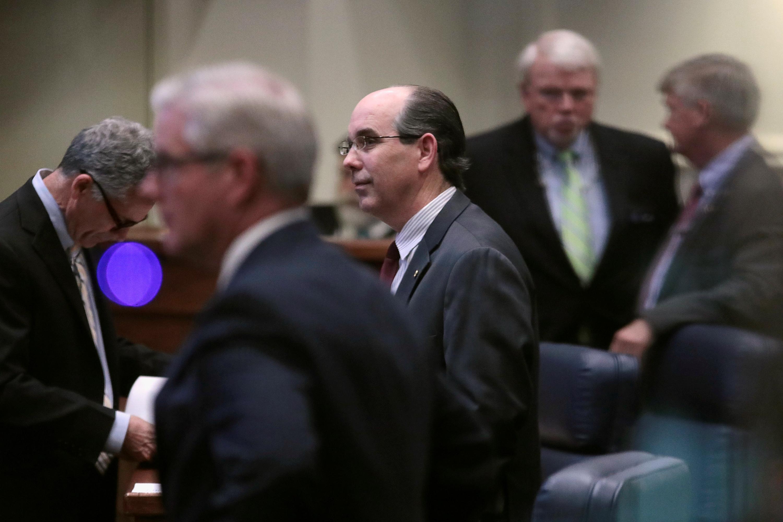 Senadores republicanos durante la sesión (Reuters)
