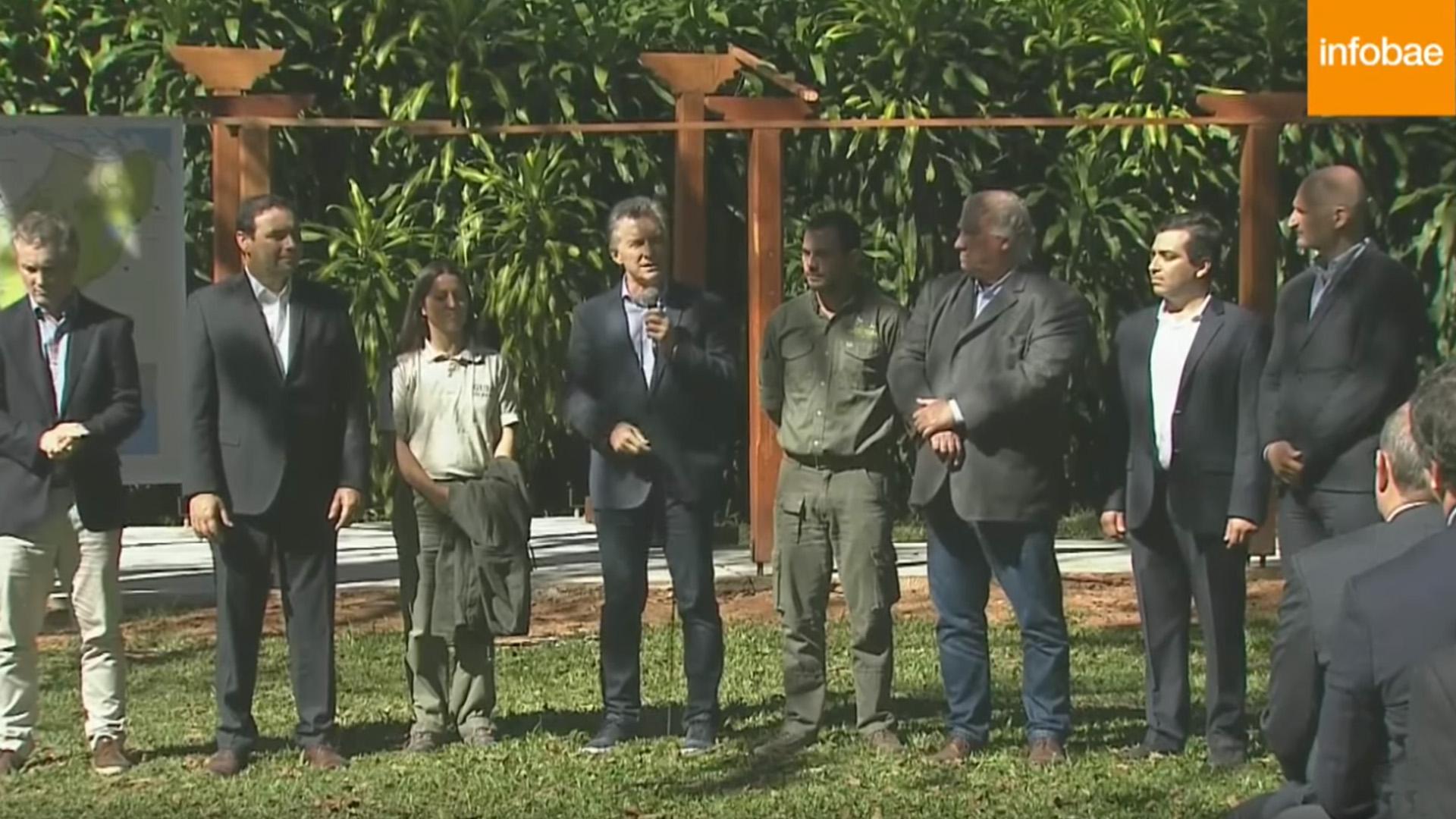 El presidente Mauricio Macri participó de un acto en Corrientes