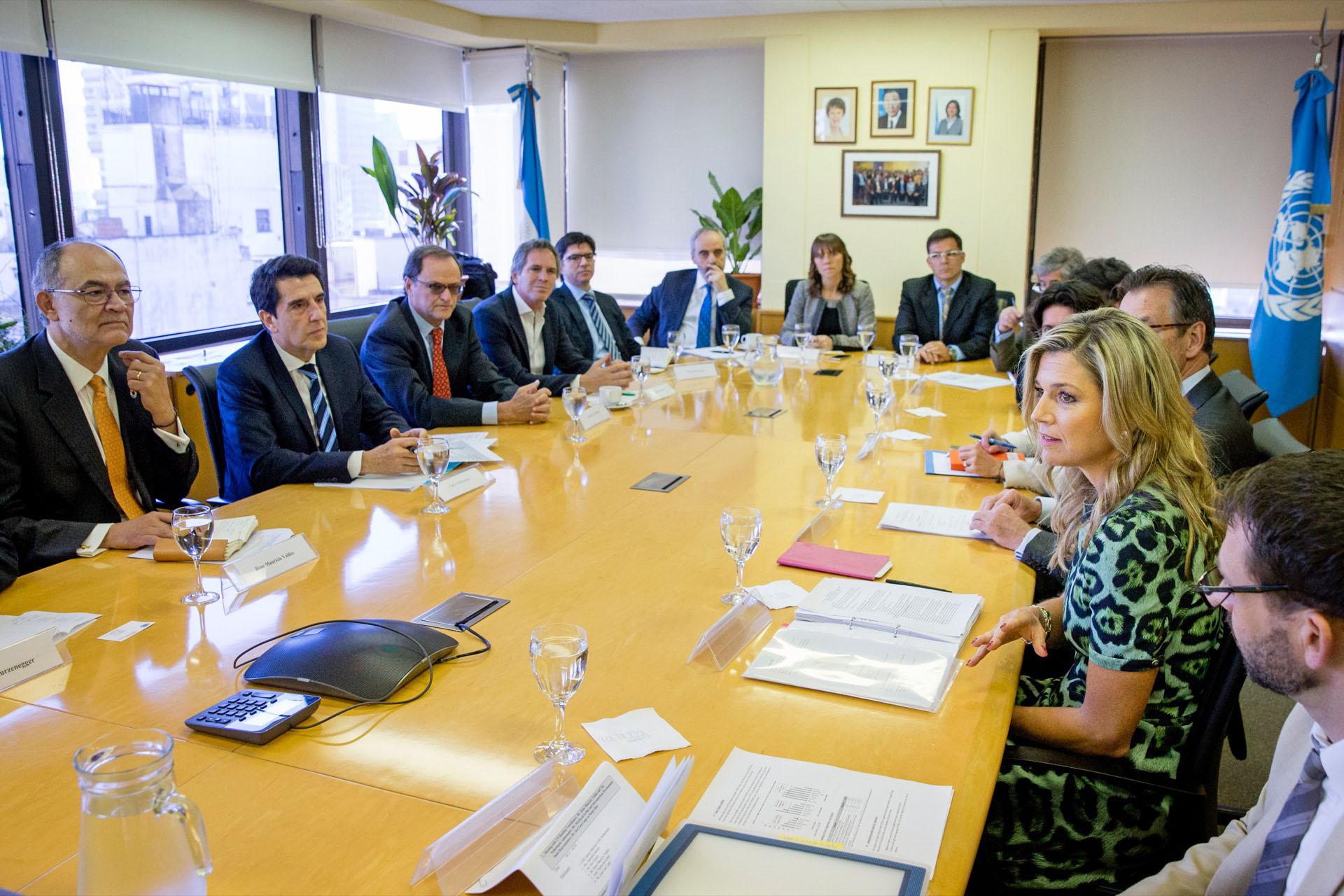 De visita en Buenos Aires, Máxima hace oír su voz en su rol para Naciones Unidas.