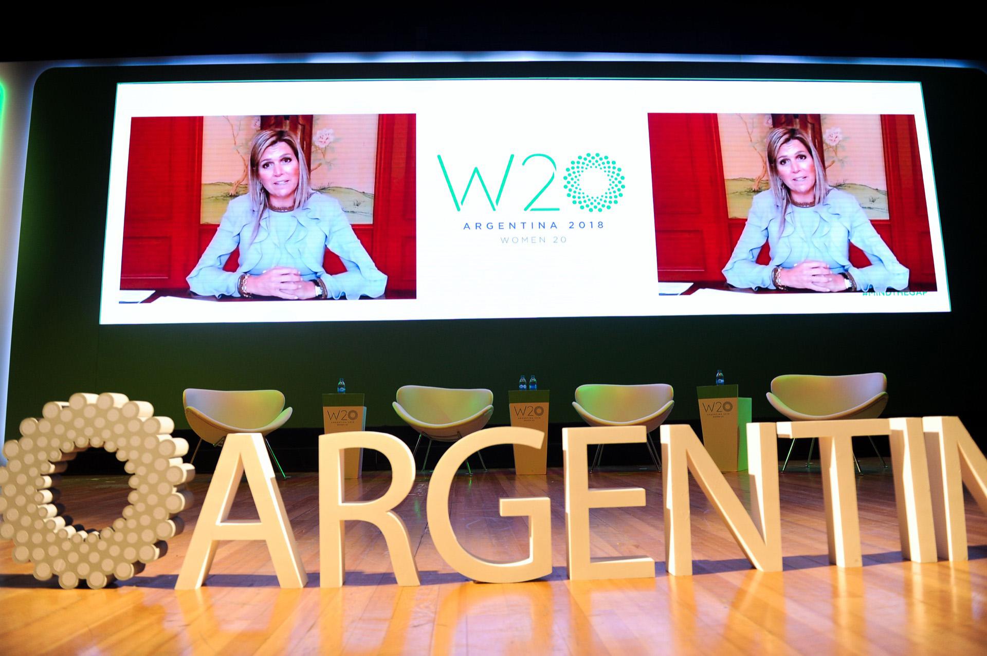 En su videoconferencia en el W20 celebrado en Buenos Aires.