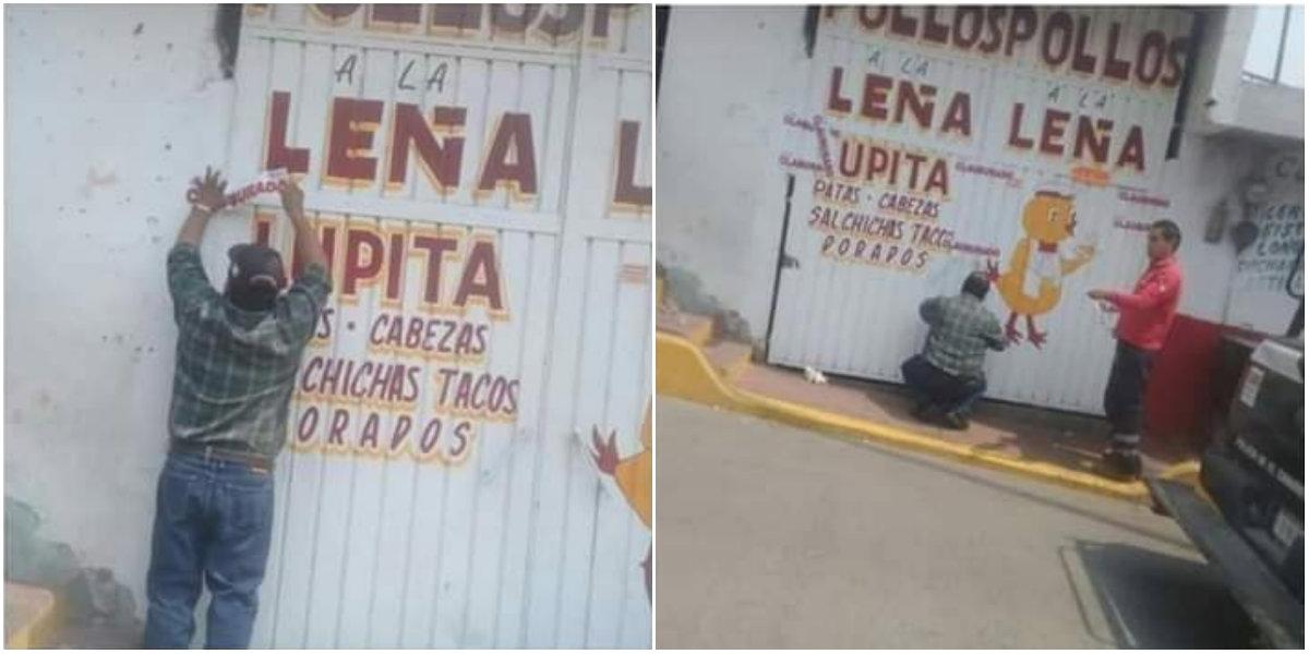 Las autoridades clausuraron el local donde se incitó a golpear a la mujer Foto: Ayuntamiento de Tequesquitla, Tlaxcala