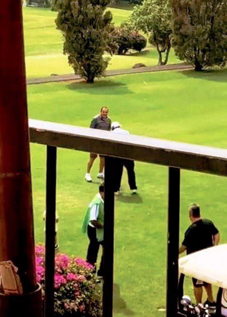 El gobernador de la entidad fue captado por el fotoperiodista,Luis Castillo, en una partida de golf (Foto: Facebook Luis Castillo)