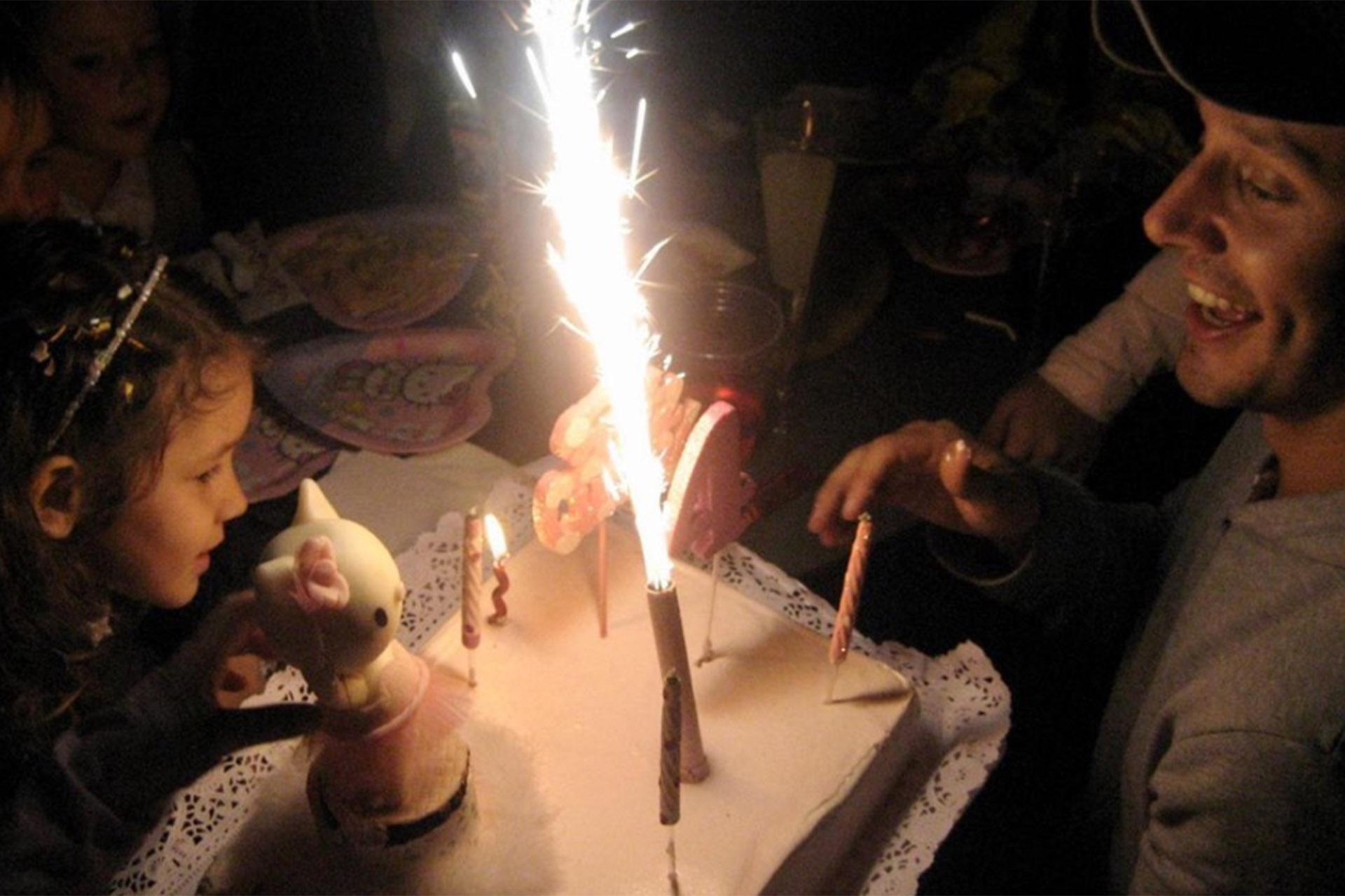 Una de las fotos que Benjamín Vicuña compartió con su millón y medio de seguidores: el cuarto cumpleaños de Blanca, (Instagram)