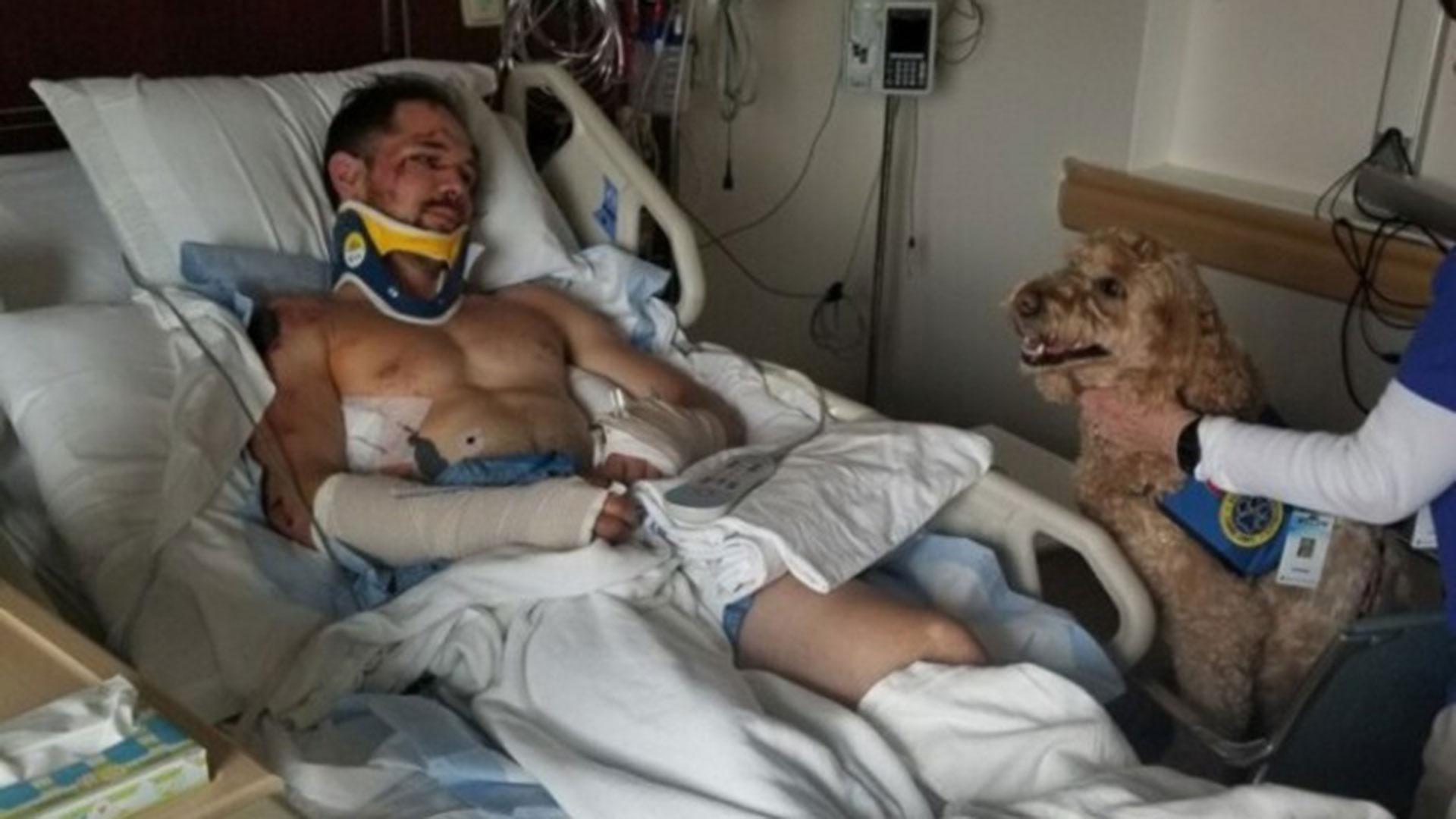 Así terminó Kyle Walker, tras sufrir la rotura de las dos muñecas, ocho costillas, la pelvis y la perforación de un pulmón