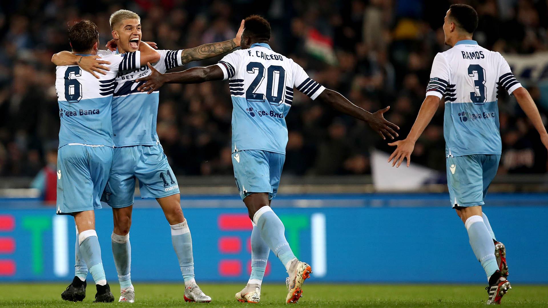 Joaquín Correa es una de las figuras de la Lazio, que acaba de ganar la Copa Italia(AFP)