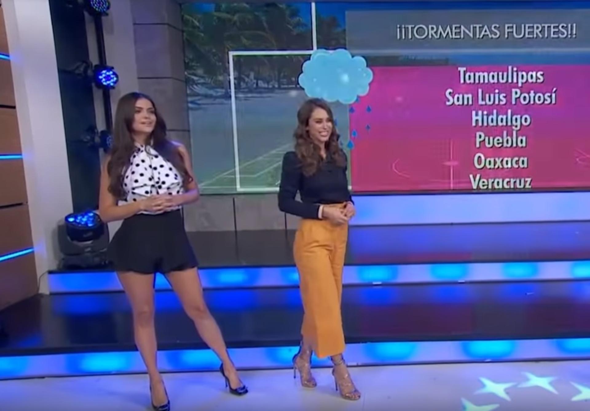 Durante la sección del clima de Hoy, Yanet lució incomoda al compartir la cámara con Marisol (Foto: Captura Youtube – Hoy)