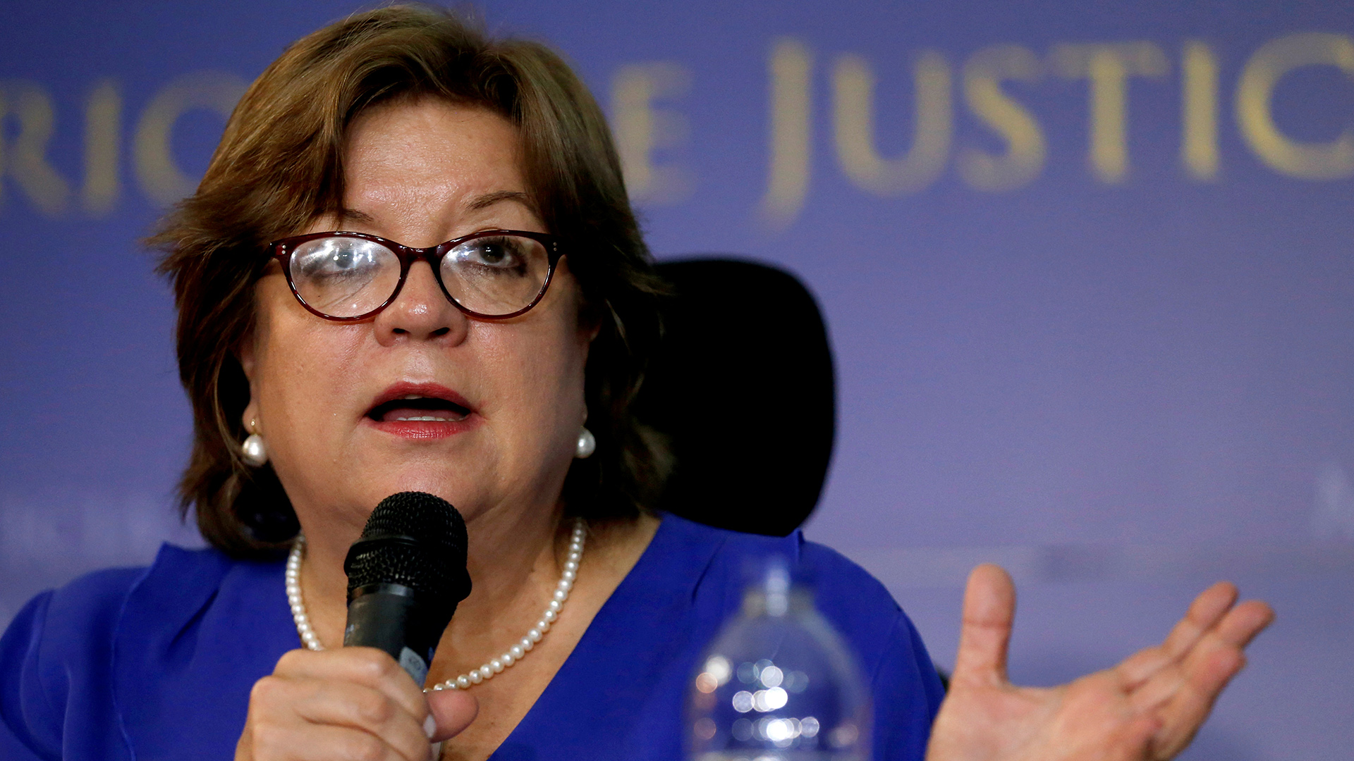 Gloria Maria Borrero, ministra de Justicia, renunció al cargo. REUTERS/Luisa Gonzalez