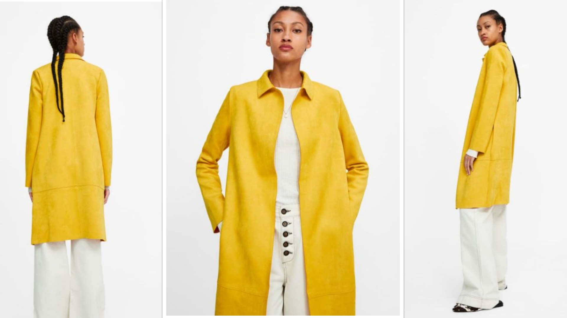 Una opción similar, en amarillo,en el catálogo on line de Zara.