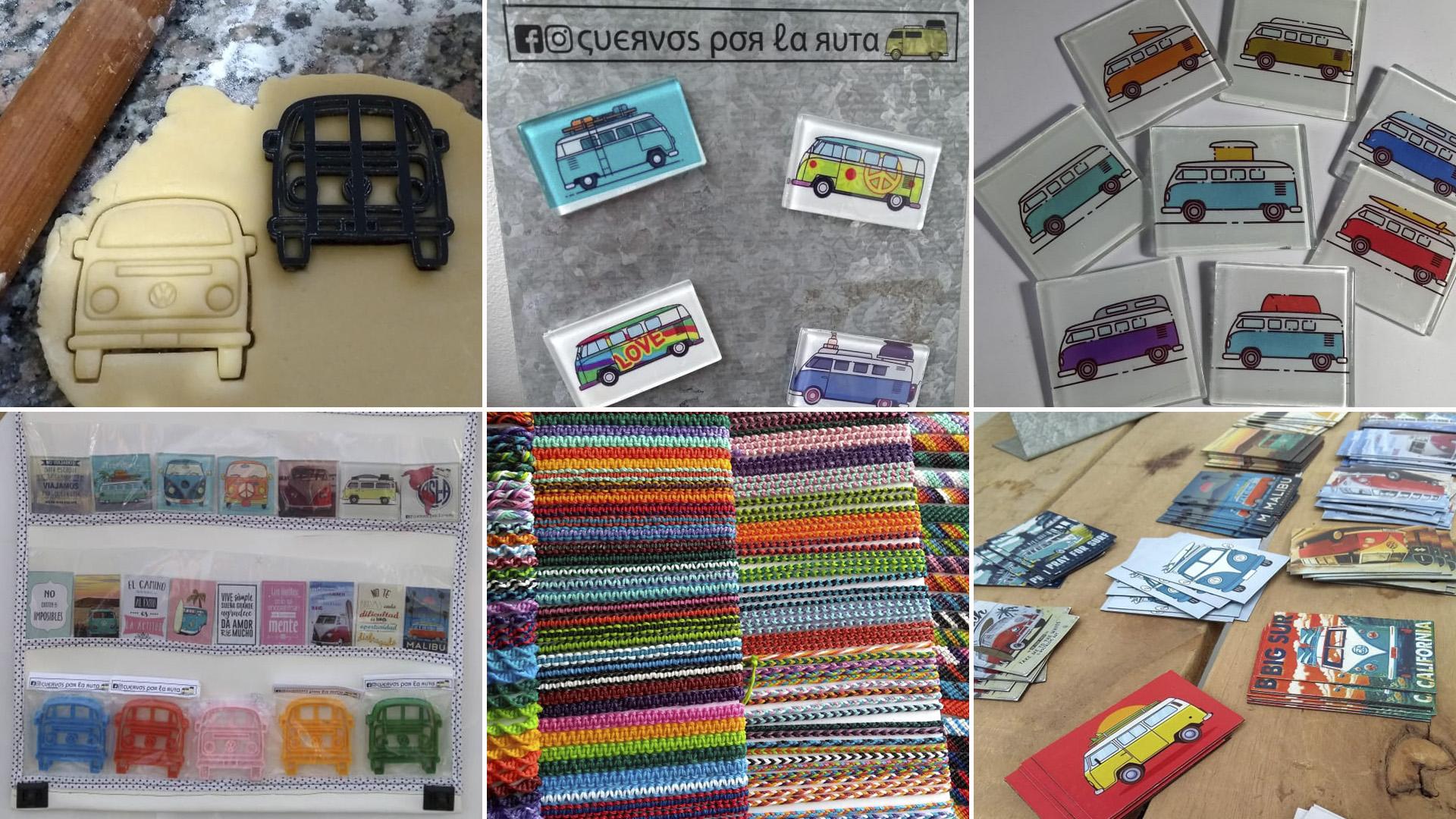 Los productos que Micaela y Damian venden en el viaje