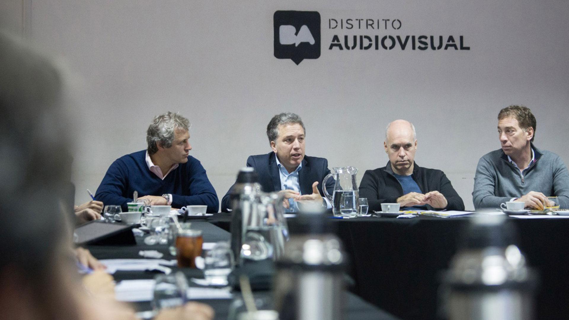 Felipe Miguel, Nicolás Dujovne, Horacio Rodríguez Larreta y Diego Santilli